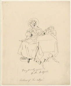 NPG D34532; Mary Russell Mitford after Daniel Maclise