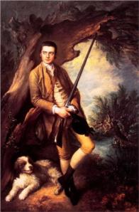William Poyntz of Midgham and his dog Amber